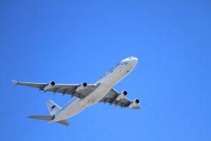 aeroplane in blue sky
